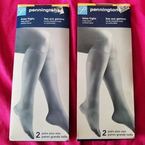 NEW! 4 Pairs Plus Size Knee Highs